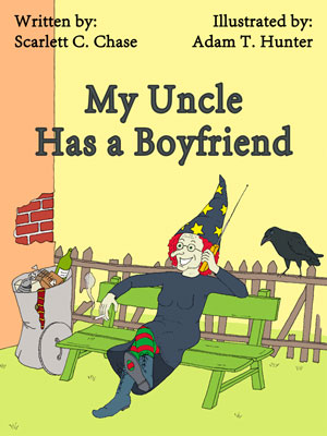 Cover of the e-picture book 'My Uncle Has a Boyfriend'
